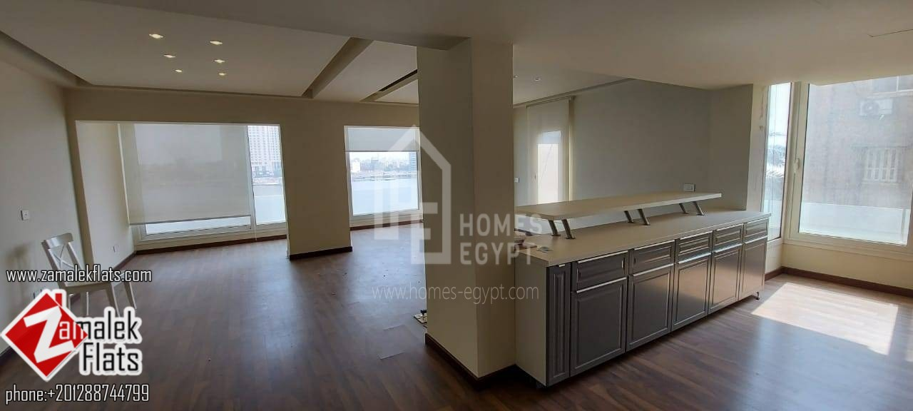 Semi Furnished Nile View Apartment For Rent In Zamalek
