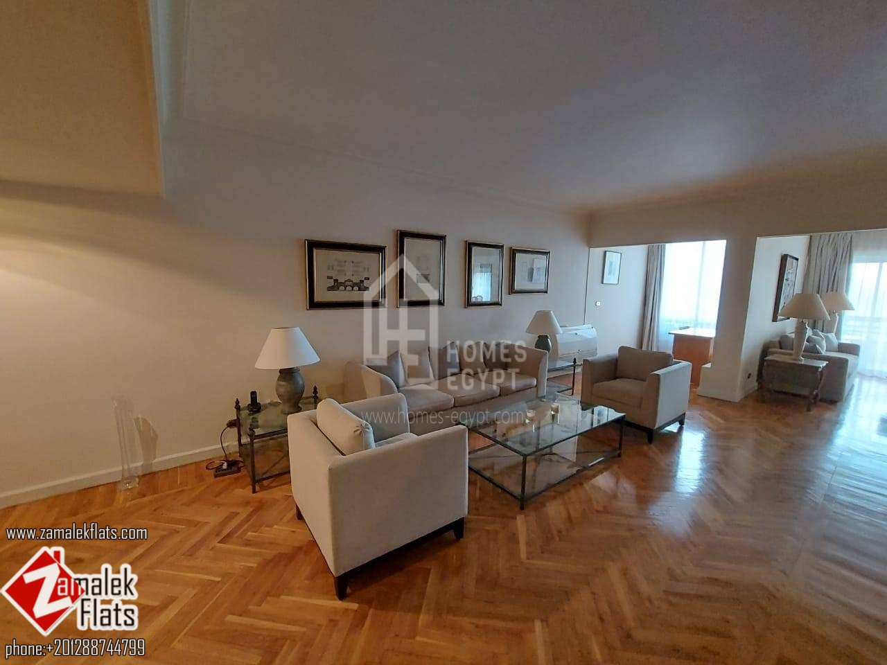 New Furnished Apartment With Nile And Aquriam Garden View In South Zamalek