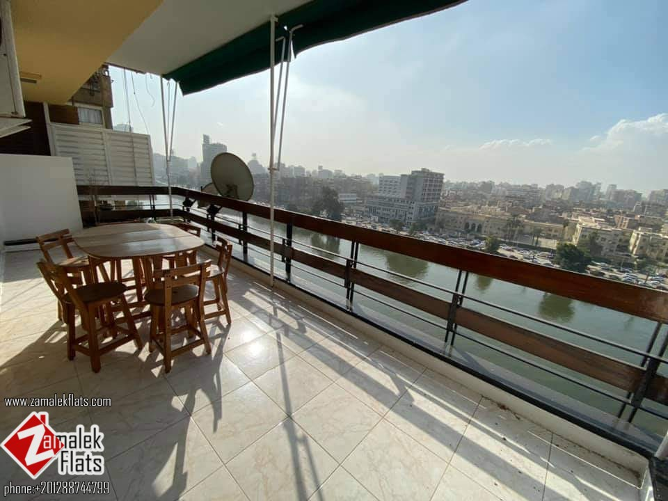 Furnished Nile View Apartment For Rent In Zamalek