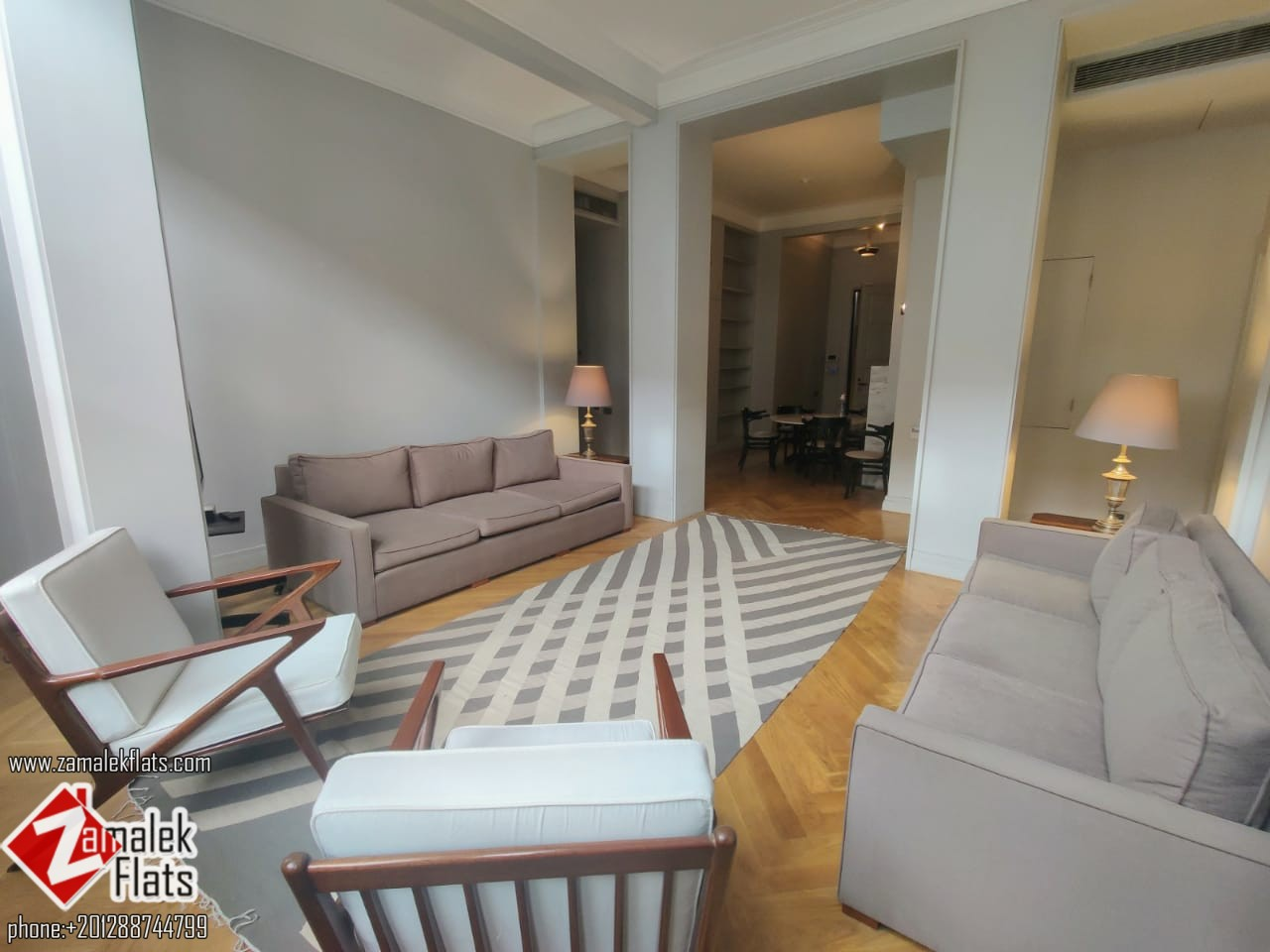 Furnished Apartment for Rent in Vintage Building in Zamalek