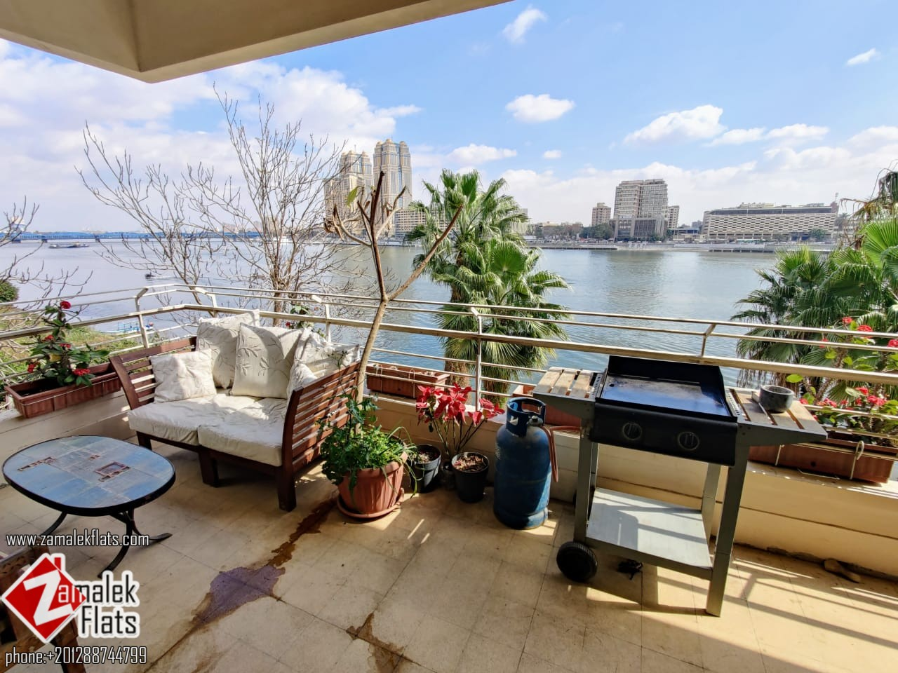 Wide Nile View Apartment for Rent in Zamalek