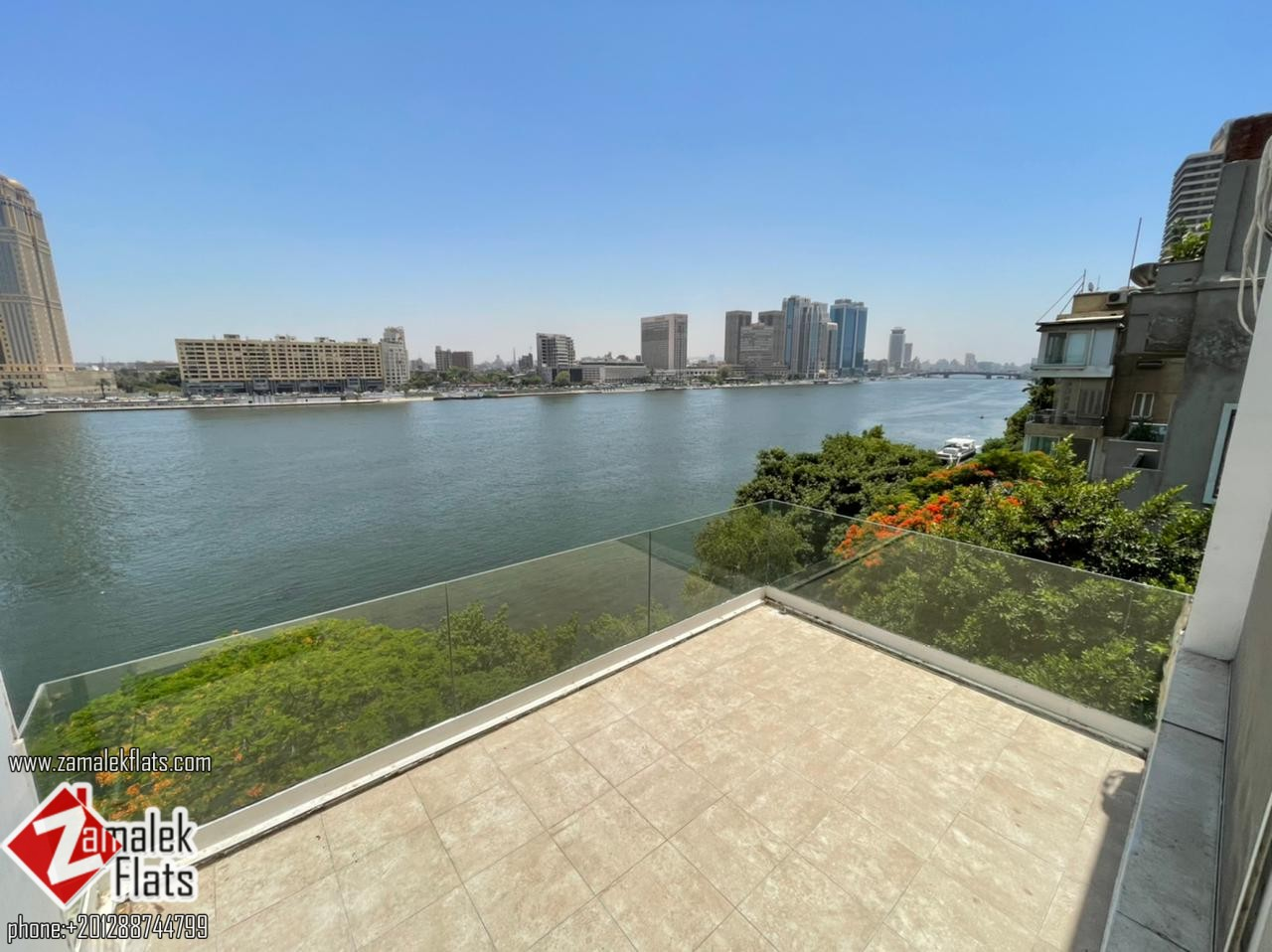 Marvelous Nile View Renovated Penthouse for Rent in Zamalek