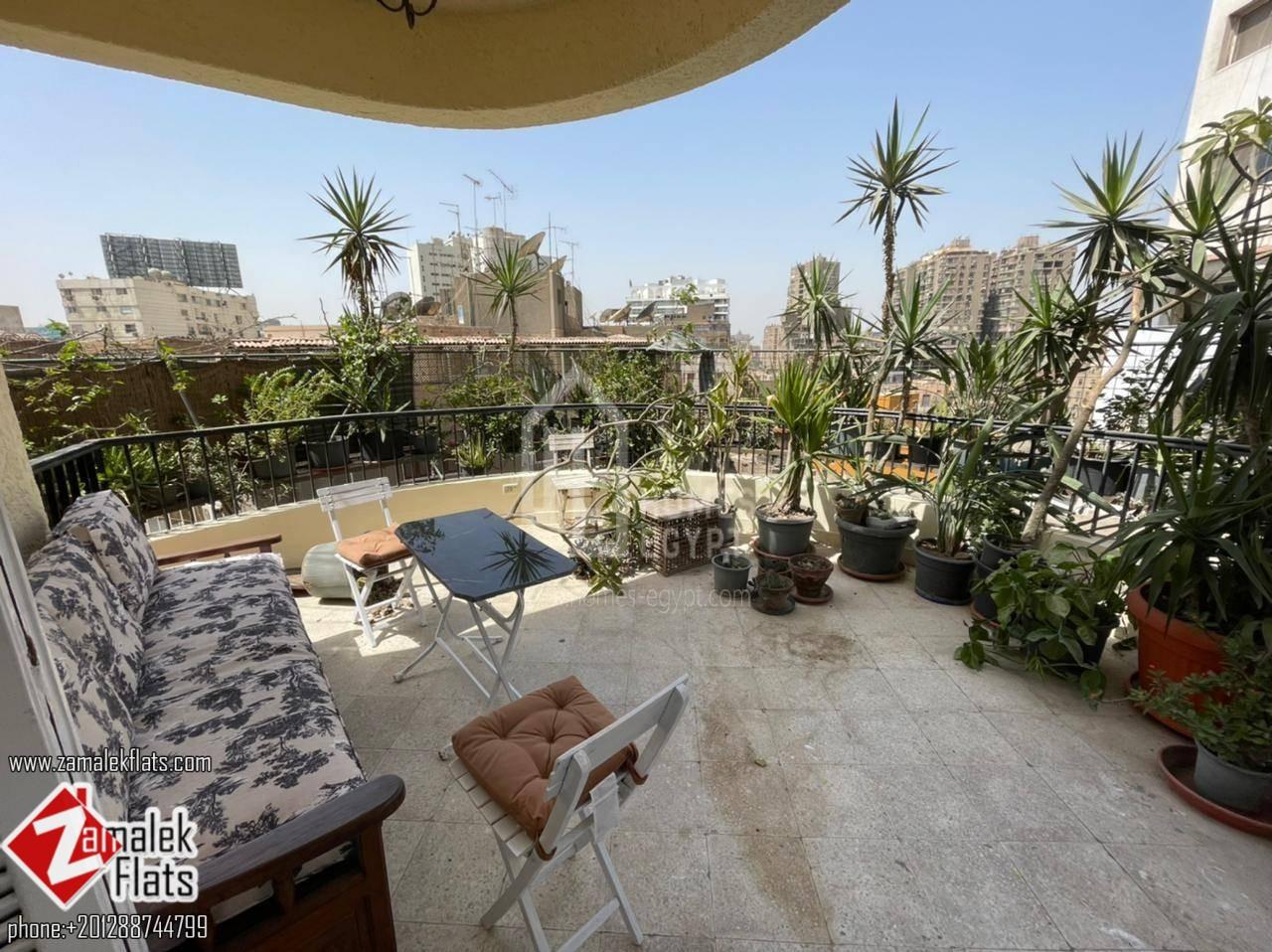 Luminous Apartment for Rent in Zamalek