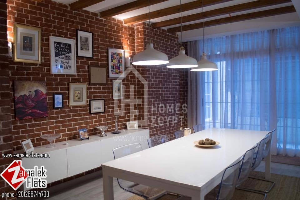Modern Furnished Apartment For Rent In Zamalek .